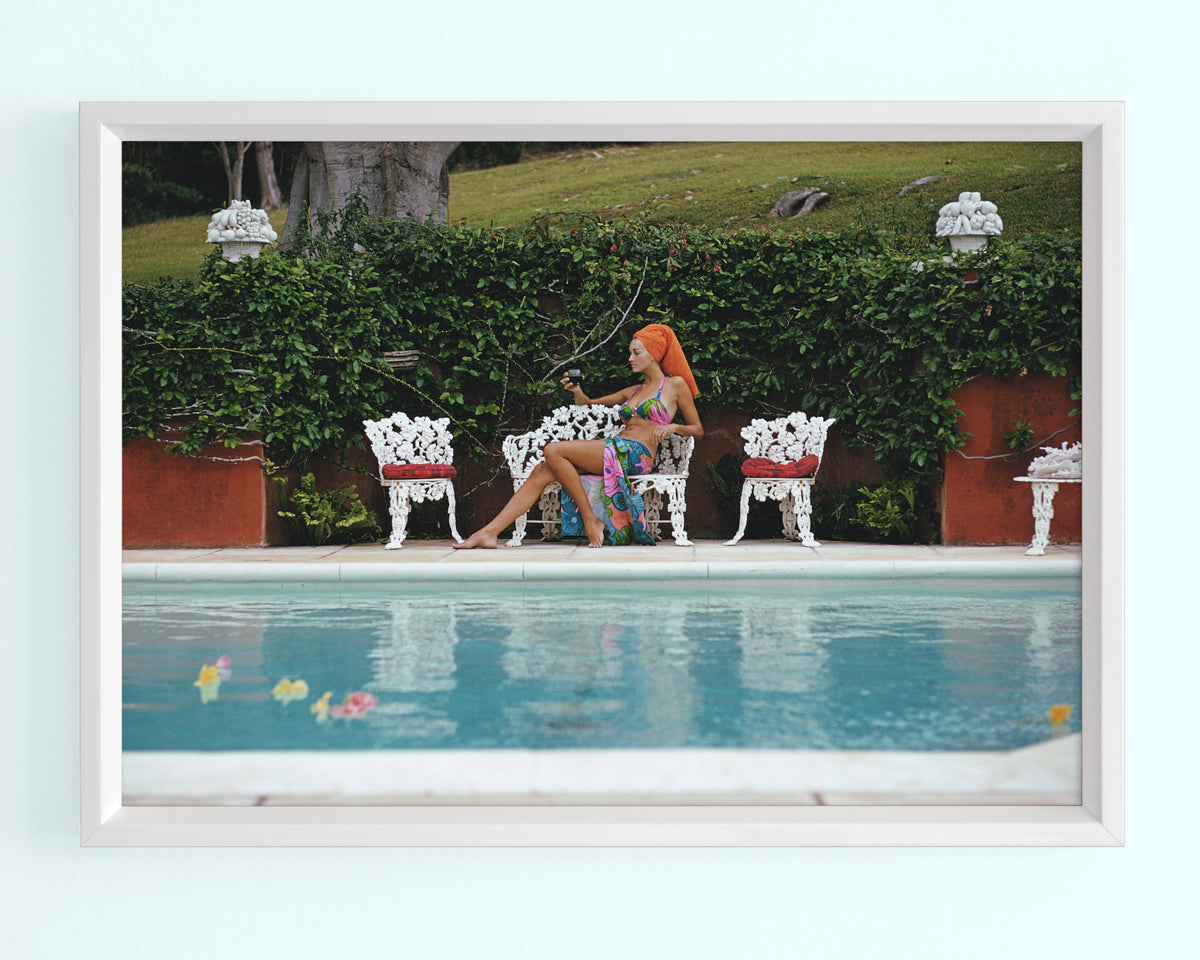 Lounging in Bermuda Art Print