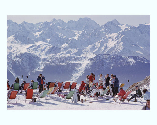 Lounging in Verbier Art Print