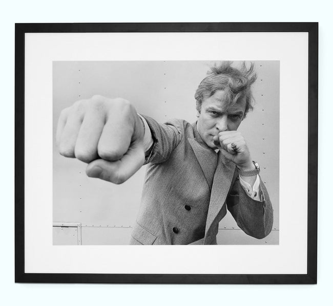 Michael Caine, Throwing a Punch Art Print