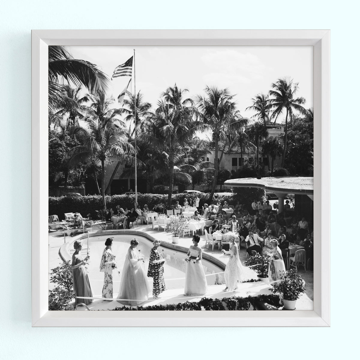 Palm Beach Fashion Show Art Print