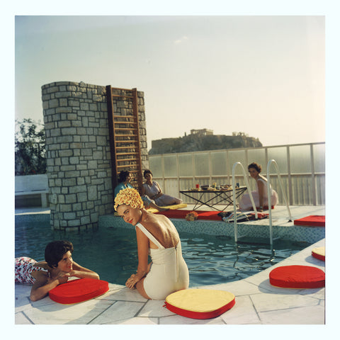 Pool Motel Art Print