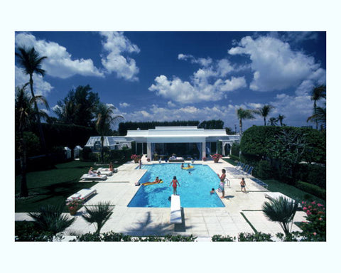 Pool in Palm Beach Art Print