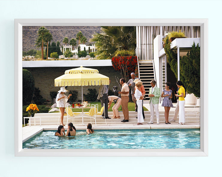 Poolside Party Art Print