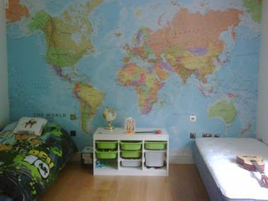 Colour World Map Wall Mural