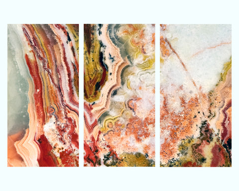 Pink & Orange Marble Foamboard Art Print
