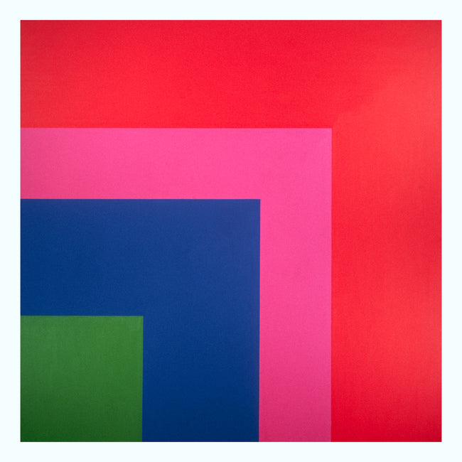 Red, Pink, Blue, Green Art Print
