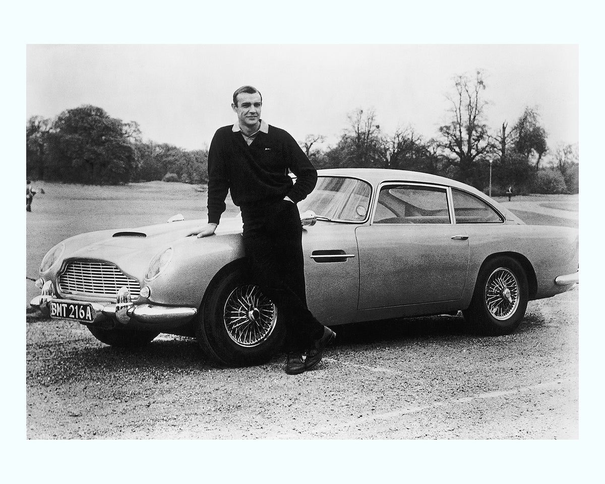 Sean Connery With 007 S Aston Martin Art Print 55max