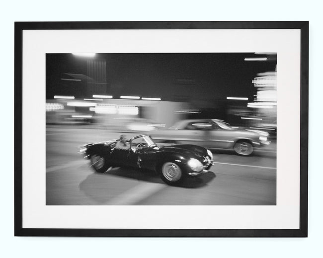 Steve McQueen Driving Sunset Strip Art Print