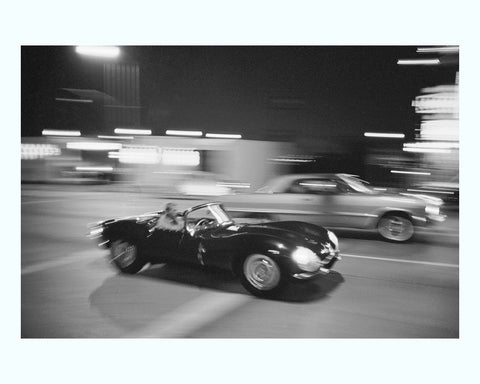 Black Fr amed 1956 Mercedes Benz 300 Sl Art Print