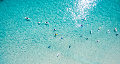 Surfers From Above Art Print by 55MAX Image Collection