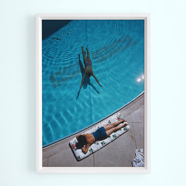 Swimmer and Sunbather Art Print