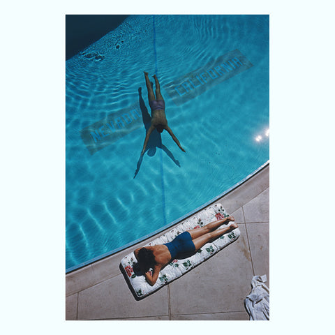 Poolside Backgammon Art Print