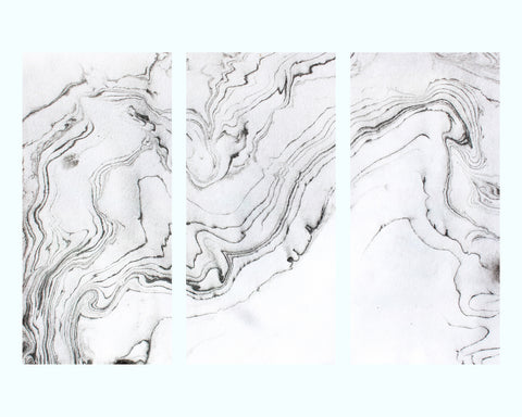 Aerial Beach View Art Print Triptych