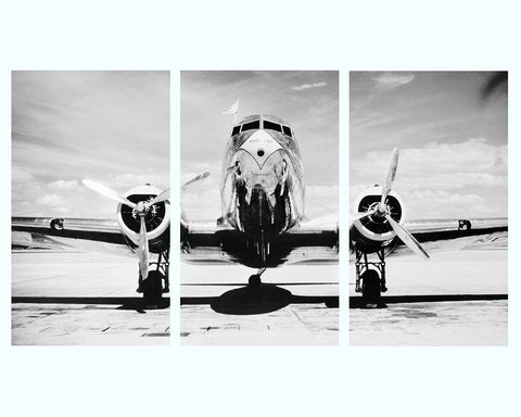 Airstream 4837 Art Print Triptych