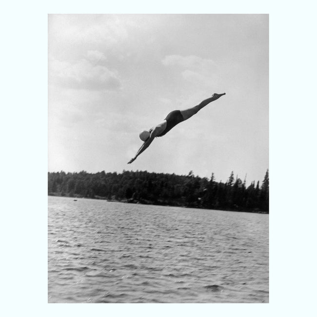 Women Diving into Lake, 1930 Art Print