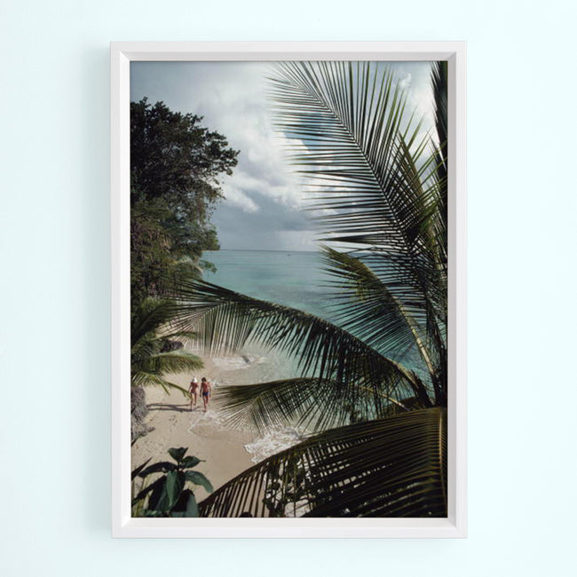Barbados Beach Art Print