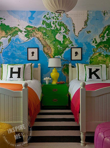 Neutral World Map Wall Mural