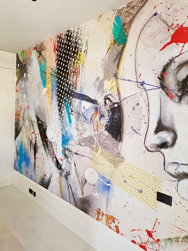 Bespoke Graffiti Wallpaper, Private Residence