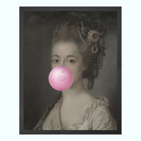 Bubblegum Portrait 6 Art Print