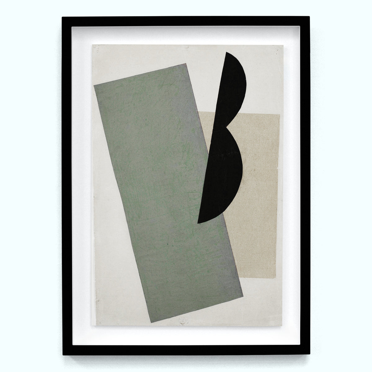 Green and Black Shape Composition Art Print