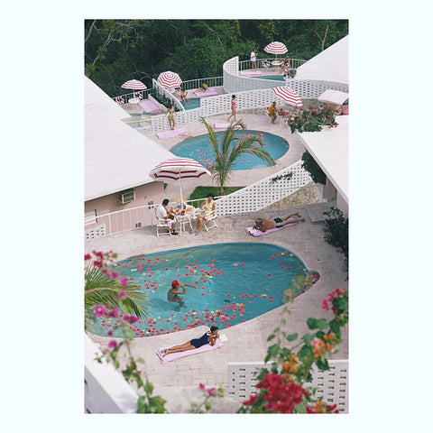 Pool at El Venerol Art Print