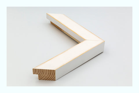 Angled Light White Wood