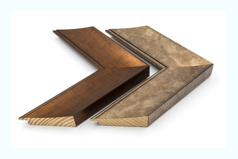 Double Angled Metallic Wood