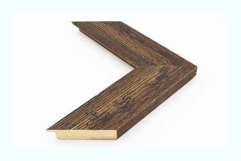 Metallic Angled Rustic Wood