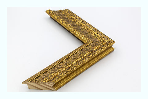 Ornate Gold Wood Three