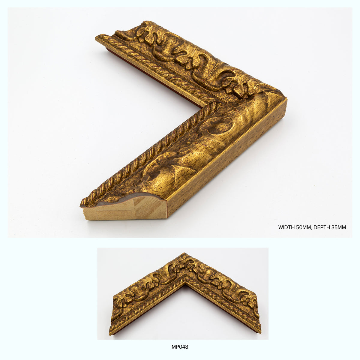 Ornate Gold Wood One