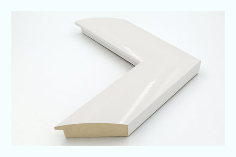 Thin White Angled Gloss Wood