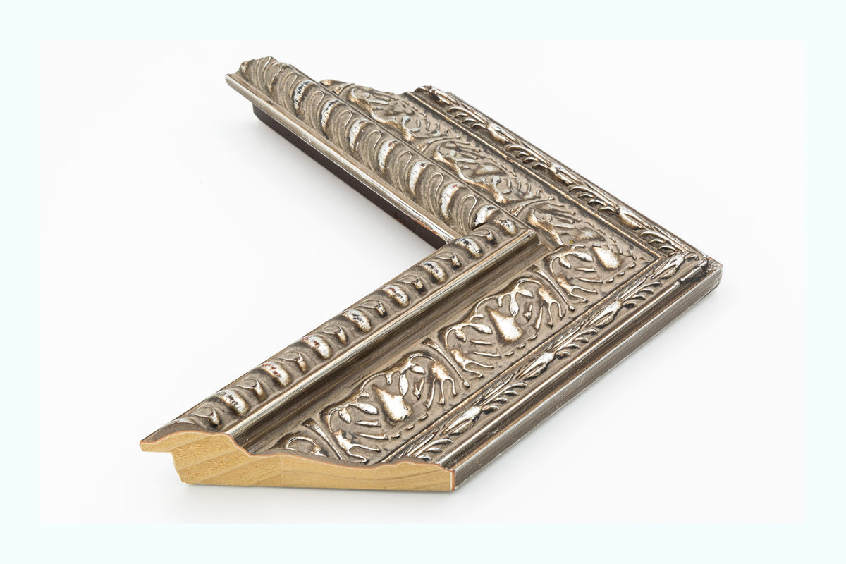 Silver Ornate Wood