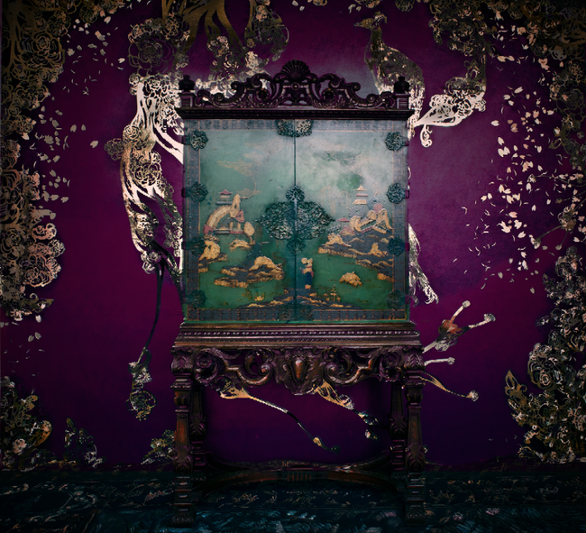 Opium Collection Purple Gold Wallpaper