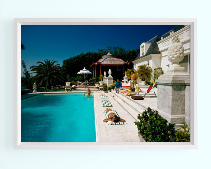 Poolside Chez Holder Art Print