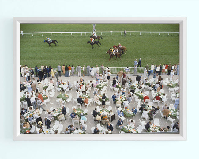 Racing At Baden Baden Art Print