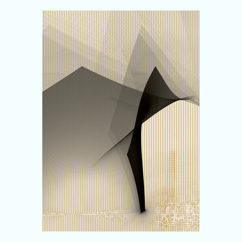 Blue, White Abstract Canvas Art Print