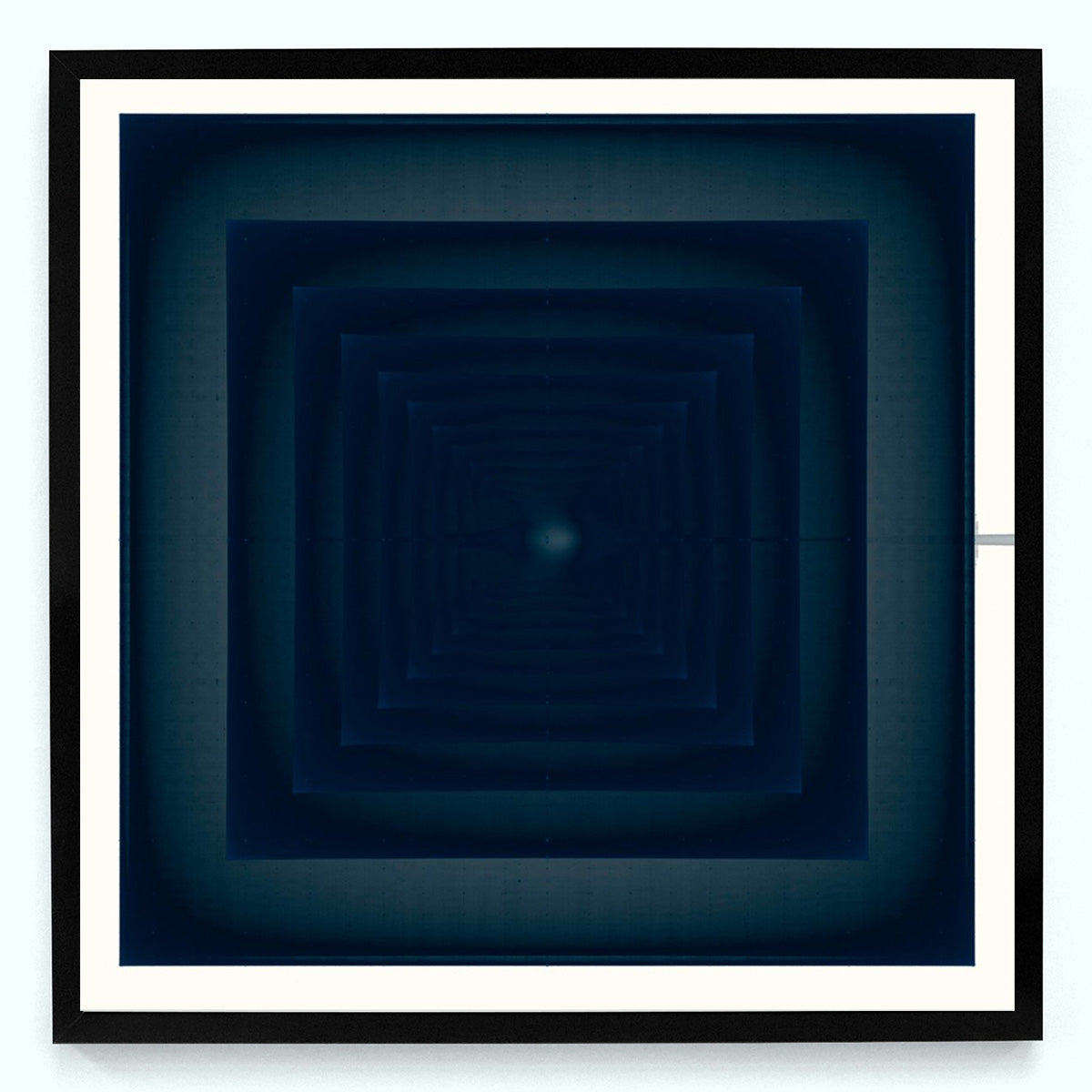 Blue Square 6518 Art Print