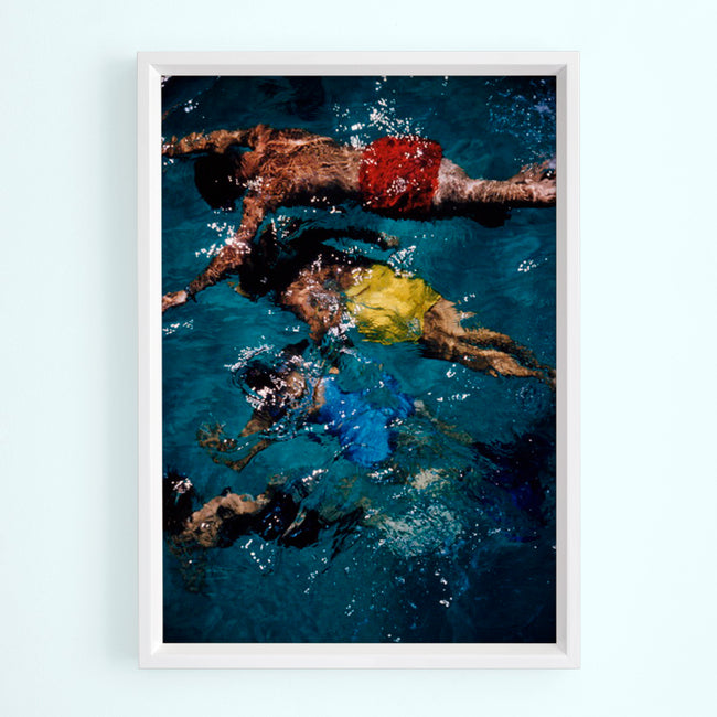 Swimming In The Bahamas Art Print