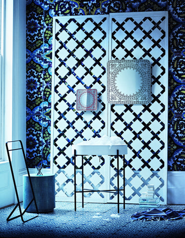 Tiled Silver Wallpaper