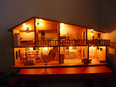 Dolls House lit up