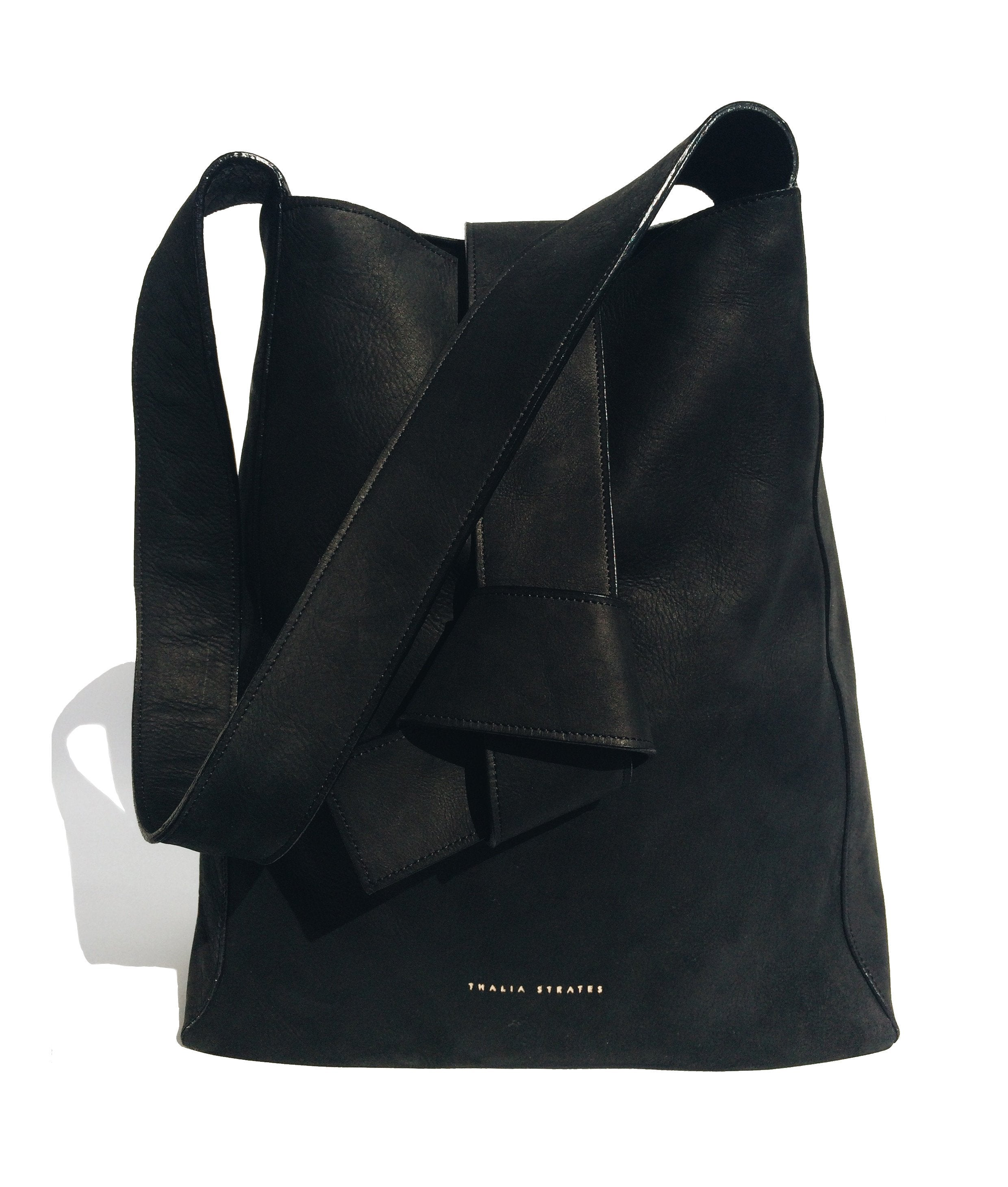 Geneva Leather Bag - Black