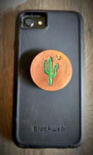 Load image into Gallery viewer, Hand Tooled Leather Saguaro Cactus Phone Grip