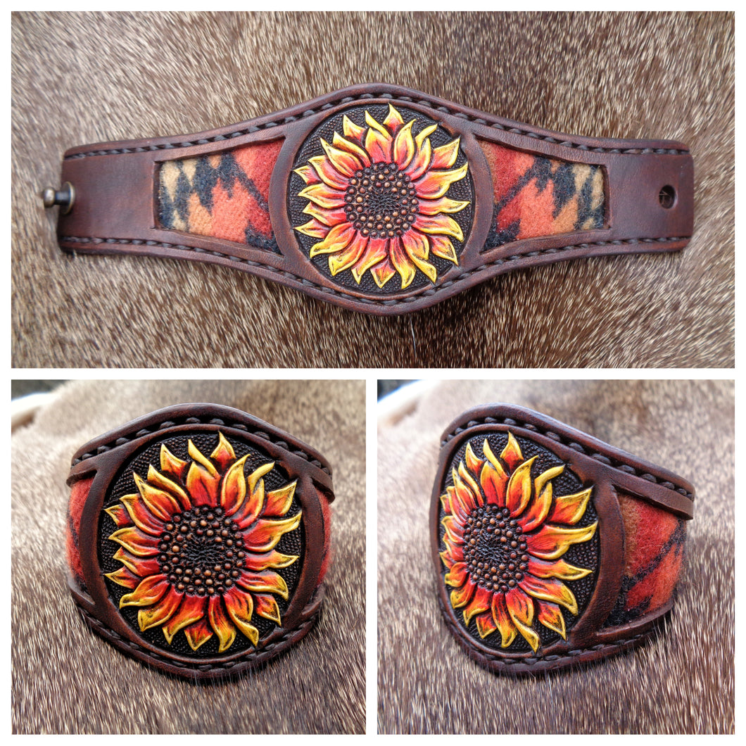 Custom Sunflower Cuff for Christine