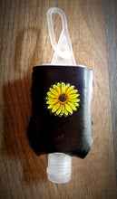 Load image into Gallery viewer, Sunflower Leather Hand Sanitizer Holder