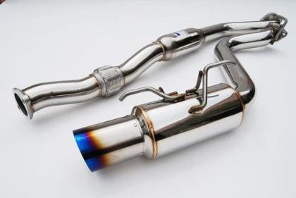 Invidia 08+ WRX Hatch 76mm REGULAR Titanium Tip Cat-back Exhaust