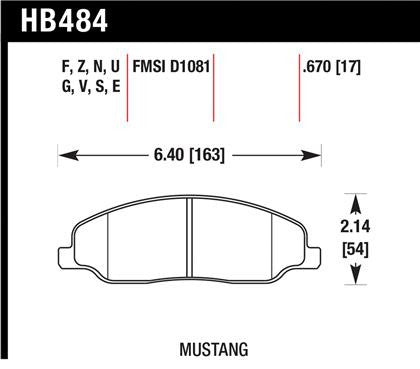 Hawk 05-10 Ford Mustang GT & V6 / 07-08 Shelby GT HP+ Street Front Brake Pads