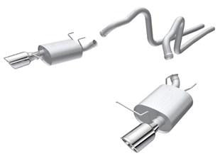 Borla 2011 Ford Mustang 3.7L 6cyl 6spd RWD Stainless Steel S-Type Catback Exhaust