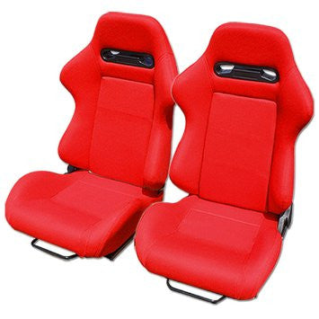 Type-R Cloth Sport Seat Red w/ Red Stitch (Left)