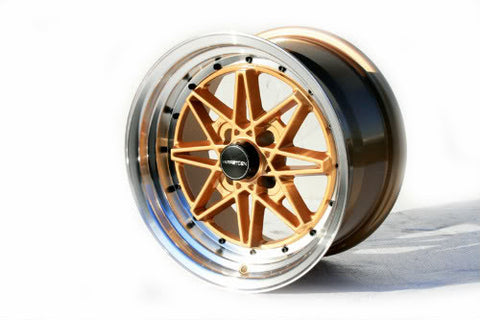 Varrstoen V2 Gold-Polished Lip 15x8 (4x100 et +25)