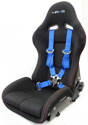 4 Point Seat Belt Harness / Cam Lock- Blue